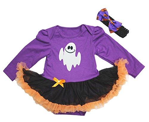 n Baby Dress Ghost Princess Purple L/s Bodysuit Tutu Nb-18m (0-3 Monate) (Princess Tutu Halloween Kostüm)