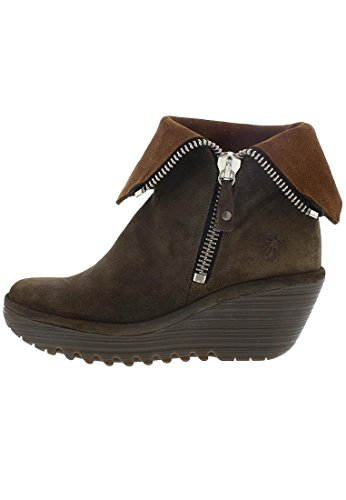 FLY London Yex668fly, Bottes Femme Marron (Sludge/camel)