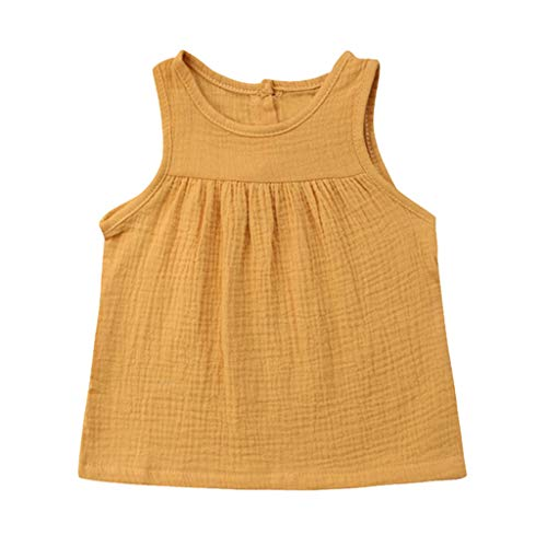 JUTOO Kleinkind-Baby-Kind-Mädchen-Sleeveless Normallack-Geraffte Weste übersteigt beiläufige Kleidung (Socke Affe Kostüm Mädchen)