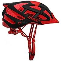 MSC Bikes HX100SMBKRD Casco de MTB, Rojo y Negro, S/M (55cm-58cm)