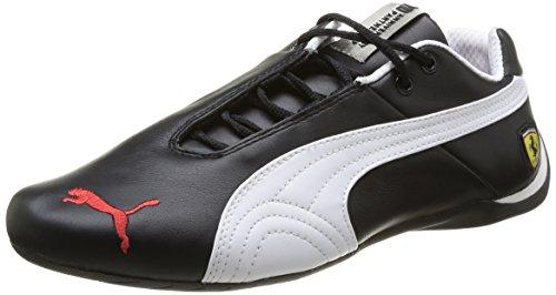 Puma Future Cat Leather SF -10- Unisex-Erwachsene Sneakers, Schwarz (Black/White), 42 - Puma Ferrari Future Cat