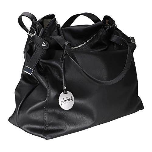 (glorreich COLOGNE DIE FEINE schwarz - Große Damentasche aus butterweichem echtem Leder (schwarz))