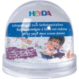 Heyda 6 x Schneekugel zum Selbstgestalten klein