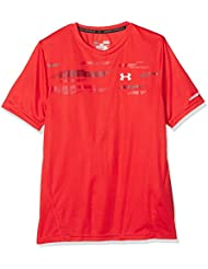Under Armour Challenger Boys SS Train Top, Camiseta para Niños, Rojo (Risk Red), YLG