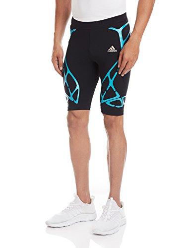 adidas Herren Shorts AZ SW SHO TGT M, Schwarz/Grün, M, 4056561642551 (Herren Tight Running Shorts)