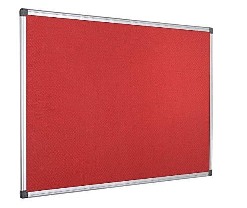 Bi-Office Maya-Pannello in feltro di pubblicità 900 x 600 mm rosso