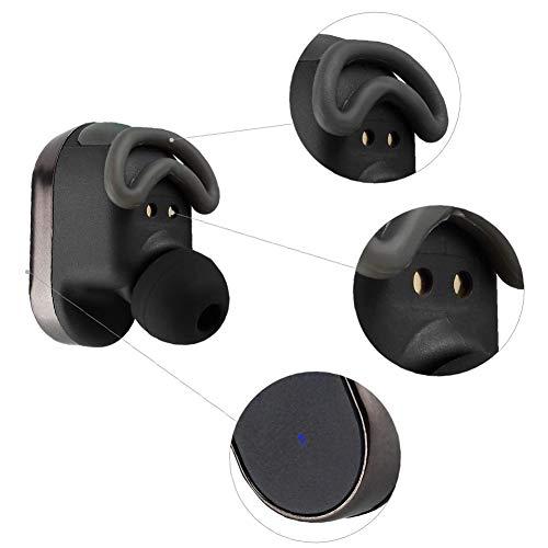 Bluetooth 5.0 drahtlose Ohrhörer, drahtlose Kopfhörer Bluetooth Ohrhörer drahtlose Kopfhörer mit Lade Fall Mini 3D Stereo Sound Binaural für IPhone Samsung Android Telefone (schwarz) - 6