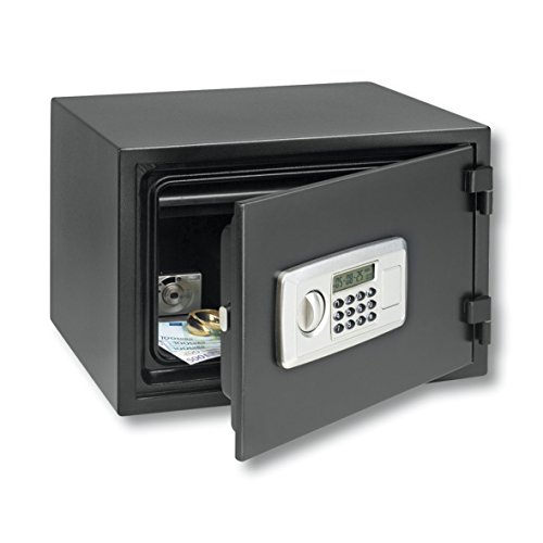 BURG-WÄCHTER Feuerschutz-Tresor mit elektronischem Zahlenschloss, FP 4 E, Schwarz