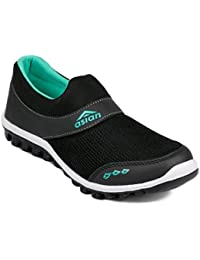 Asian shoes RIYA-04 Black Firozi Canvas Women Shoes