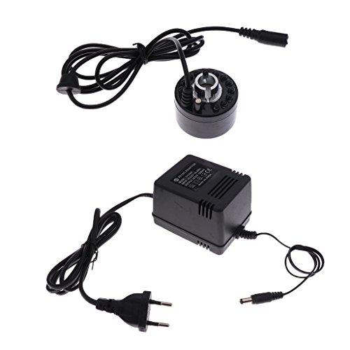 Sharplace Humidificateur Brumisateur Diffuseur Brume Ultrasonique Mist Maker Fogger Fontaine EU Plug Noir