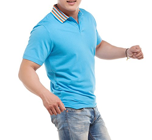 worboo Herren Poloshirt Himmelblau