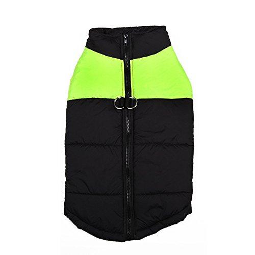 Preisvergleich Produktbild Haihuic Hundewintermantel,  Kaltes Wetter im Freien warme Weste,  Sportjacken Schneeanzug Bekleidung für Kleine,  mittlere und große Hunde S-5XL Größe / Grün