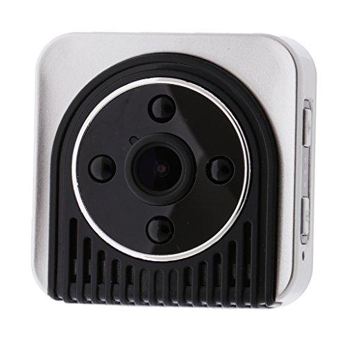 Sharplace H5 Caméra Éspion Détecteur Mouvement Camera Portable Caméscope de Surveillance Cachée - argenté