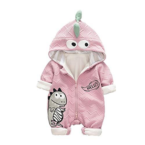 DorkasDE Baby Strampler Neugeborene Kleinkinder Strampleranzug Overall Cartoon Jumpsuit Babykleidung mit Doppelte Baumwolle Futter