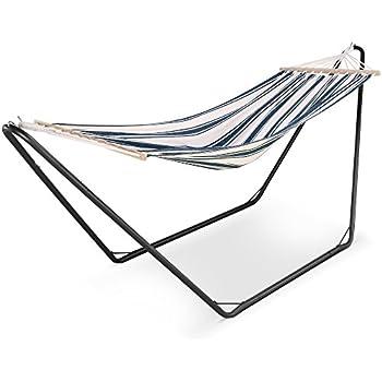 vonhaus hammock with metal frame   luxury standing swinging hammock for outdoor garden and patio folding portable hammock   garden hammock or beach hammock  amazon      rh   amazon co uk