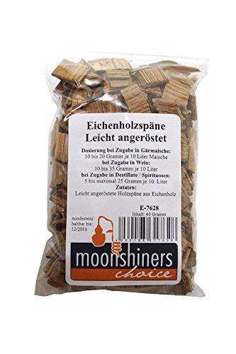 Copeaux de bois de chêne américain torréfaction légère, 40 g - 'Moonshiners Choice'