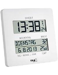 """TFA Dostmann 60.4509.02 """"Time Line"""" Funkuhr mit Temperatur"""
