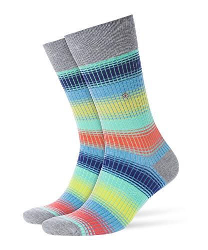 BURLINGTON Herren Socken Rainbow Stripe, 81% Baumwolle, 1 Paar, Grau (Light Grey 3400), Größe: 40-46