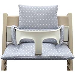 blaus Berg Baby–Colores * * 41* * Cojín de asiento acolchado Juego para stokke Tripp trapp (gris estrellas)