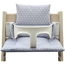 Blausberg Baby - Cojín Blausberg silla alta de bebé de Tripp Trapp - gris con estrellas