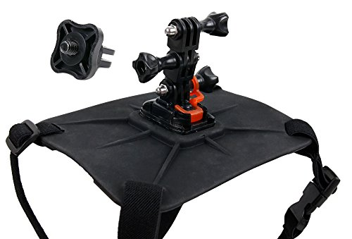 DURAGADGET Hundegeschirr + Adapter mit Stativschraube für die Nikon KeyMission 80, KeyMission 170,...