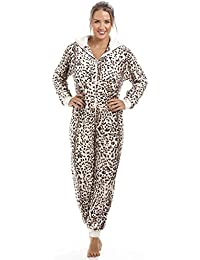 Combinaison pyjama toute douce - imprimé léopard
