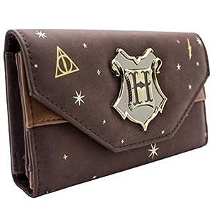Harry Potter Wappenabzeichen Braun Portemonnaie Geldbörse