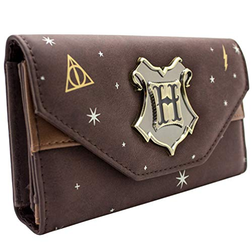 Harry Potter Wappenabzeichen Braun Portemonnaie Geldbörse (Geldbörse Harry Potter)