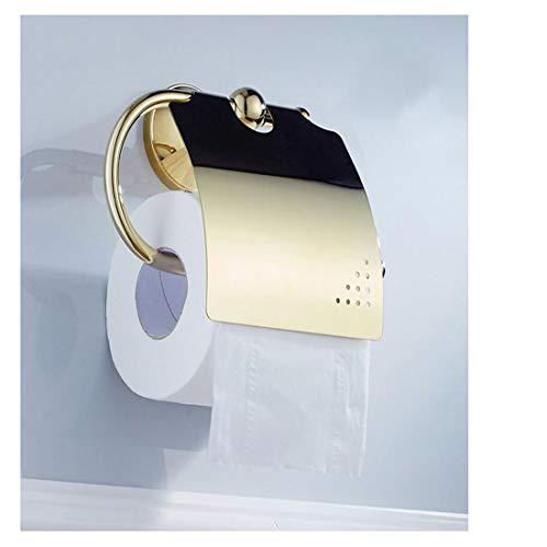 Papierhalter rostfrei Gold Messing Papier Handtuchhalter Bad Hardware Anhänger Bad Tissue Rack -