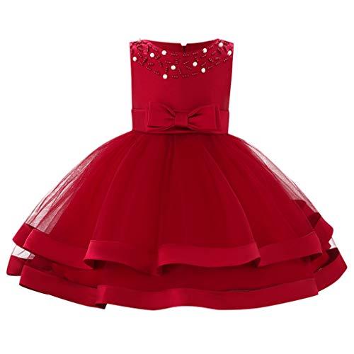 1308259f3 Mitlfuny Verano Niñas Bebé Princesa Vestidos sin Manga Dama de Honor ...