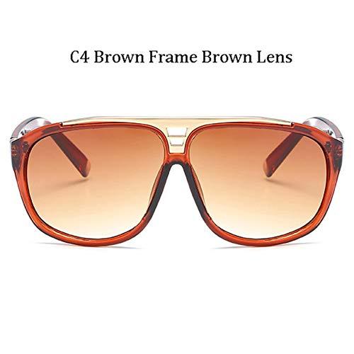 Kjwsbb Mode übergroße quadratische Sonnenbrille Frauen Männer großen Rahmen Sonnenbrille Shades Eyewear