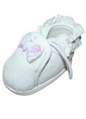 Festlicher Schuh für Taufe oder Hochzeit - Taufschuhe für Baby Babies Mädchen Kinder, TP07 Gr. 19