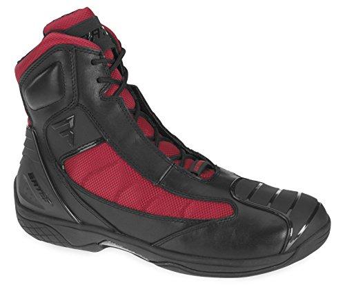 Bates Beltline Performance Men's Motorcycle Boots (Black/Red, Size 7) (Riding Kleid Red)