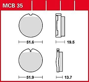 Plaquettes Lucas MCB35Plaquettes de Frein organiques Allround