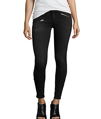 Baymate Femme Pantalons Mince Jeans élasticité Crayon Pantalon Grande Taille Noir