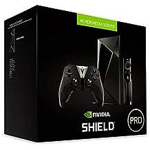Nvidia Shield TV Pro - Android TV gaming (resolución 4K HDR, memoria interna de 500 GB, 3 GB de RAM, Android 7.0), negro