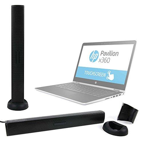 DURAGADGET Altavoz Soundbar para Portátil Asus K540LA XX659T / Chuwi LapBook 12.3 / HP 14 bs036ng , HP 15 bs030n , HP OMEN 15-ce002ns , HP Pavillion 15 cc508ns - Incluye pinza y base de apoyo