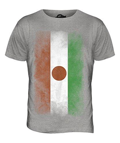 CandyMix Niger Verblichen Flagge Herren T Shirt Grau Meliert