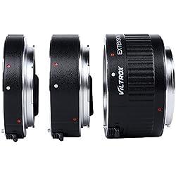 Andoer Viltrox DG-G autofocus AF TTL Tubes d'extension Ring 12mm 20mm 36mm Set Metal Mount avec enjoliveurs pour Canon EF EF-S 35mm objectif DSLR