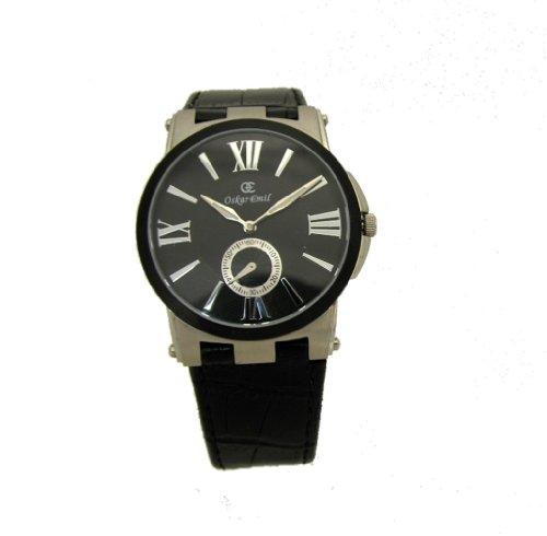 Oskar Emil Boston Gents Elegant Thin Watch with Leather Strap