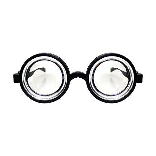 Erwachsene / Kinder schwarz rund Nerd Geek Kostüm Brille Brillen (Welt Buch Woche / Buch Tag) (Geek Kostüm Kinder)
