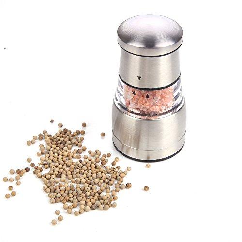 Molinillos de Sal y Pimienta, GWCLEO Manual Moledor de Sal y Pimienta con Ajuste de Finura Ajustable,Molino...