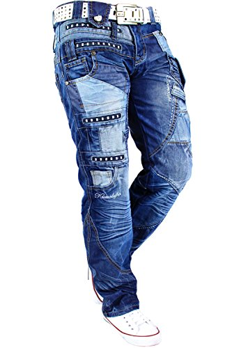Kosmo Lupo Herren Jeans Freizeit Streetwear Urban Style Denim Black Modell-01 - Kosmo Lupo