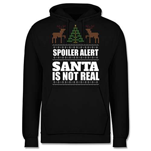 Weihnachten & Silvester - Spoiler Alter! Santa is not real - M - Schwarz - JH001 - Herren ()