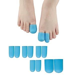 Sumifun 10x Zehenschutz, Silikon Zehenschutzkappe, Fuß für die entzündeten Fußballen, Wunde Hühneraugen, Hammerzehen und Finger Ärmel