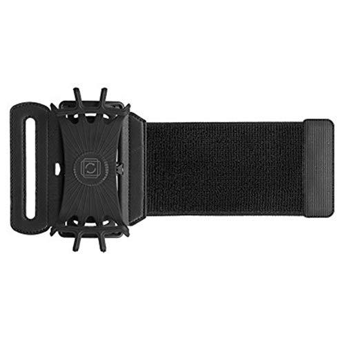 ehbarer Silikongürtel, Outdoor-Sportarmtasche, Armtasche, Fitnessarm für Männer und Frauen (Schwarz) ()