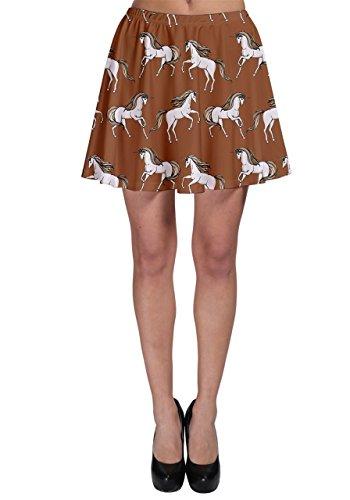 CowCow Unicorno da donna gonna Skater Brown