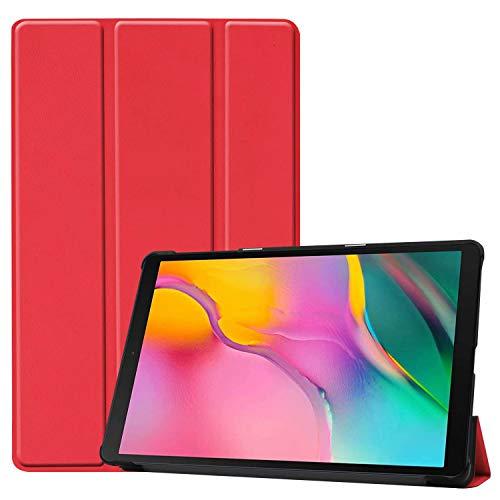 cover per tablet samsung tab a HoYiXi Custodia per Samsung Galaxy Tab A 10.1 2019 Ultra Sottile Case in pelle Smart Cover con Supporto Funzione Custodia di Tablet per 10.1 Pollici Galaxy Tab A 2019 T510/T515 - Rosso