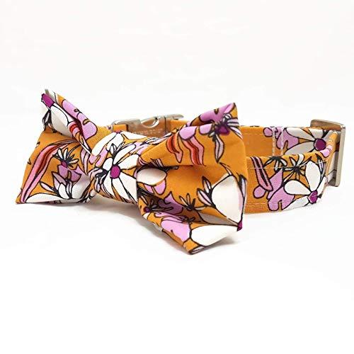 Hundehalsband mit Fliege - Vintage Flowers 5.0 (Hundehalsbänder Weibliche)