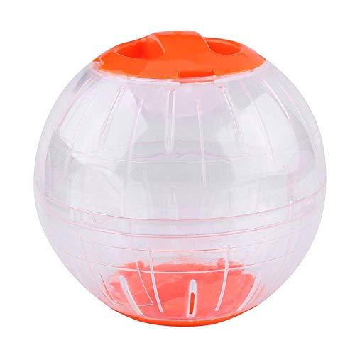 LOGLOW Hamster-Übungs-Ball, 4,7 Zoll Plastiknetter Haustier-Ratten-Mäuse-Rennmaus-laufendes Jogging, Das lustige Spielwaren Spielt Zwerg-Hamster-Minilauf-Überübungs-Rolle-Ball(Orange)